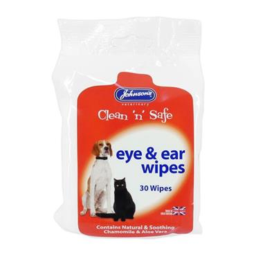 Johnson's Clean N Safe Eye and Ear Wipes 30 Pack | JJ1442