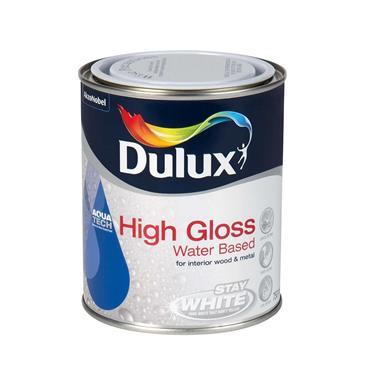 Dulux 750ml High Gloss Water Based - Brillant White   5164529