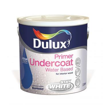Dulux 2.5 Litre Water Based Undercoat - Brillant White | 5164545