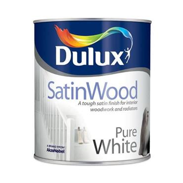 Dulux 2.5 Litre Water Based Satinwood - Brillant White | 5164548