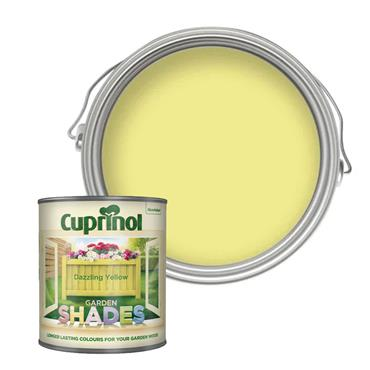 Cuprinol 1 Litre Garden Shades Woodstain - Dazzling Yellow | 5244471