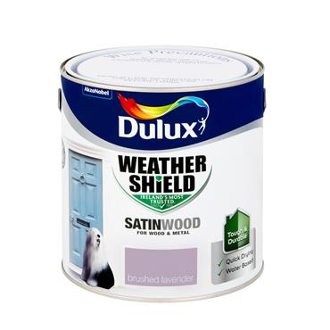 Dulux 2.5 Litre Weathershield Exterior Satinwood - Brushed Lavender | 5270119