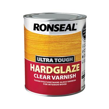 Ronseal 750ml Ultra Tough Hardglaze Varnish - Clear Gloss | 09054