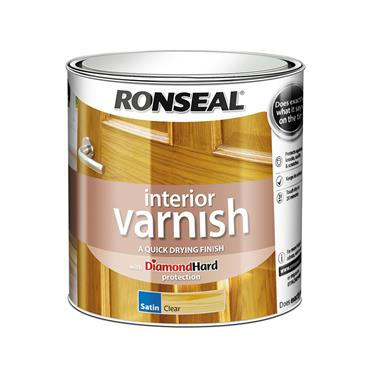 Ronseal 2.5 Litre Quick Drying Interior Satin Varnish - Clear Satin | 36872