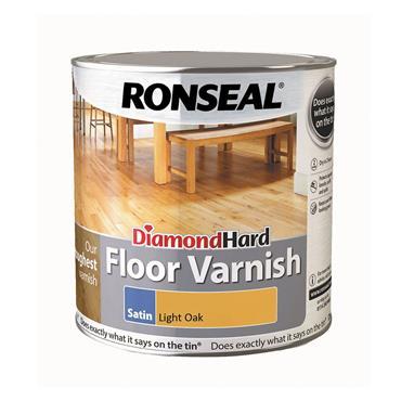Ronseal 2.5 Litre Diamond Hard Satin Floor Varnish - Light Oak | 33430