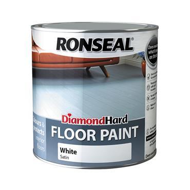 Ronseal 2.5 Litre Diamond Hard Floor Paint - White   35753