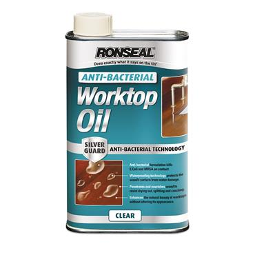Ronseal 1 Litre Anti-Bacterial Worktop Oil - Clear | 36224