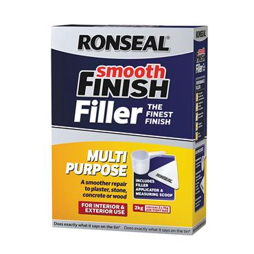 Ronseal 2kg Multi Purpose Powder Smooth Finish Wall Filler | 36550