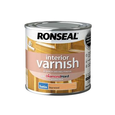 Ronseal 750ml Quick Drying Satin Varnish - Pearwood | 36819