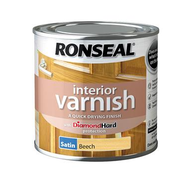 Ronseal 250ml Quick Drying Satin Varnish - Beech | 36820