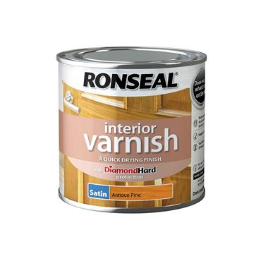 Ronseal 250ml Quick Drying Satin Varnish - Antique Pine | 36825
