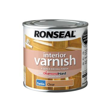 Ronseal 250ml Quick Drying Satin Varnish - Clear Satin | 36870