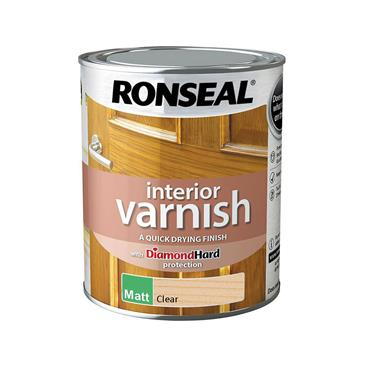 Ronseal 750ml Quick Drying Matt Varnish - Clear Matt | 36877