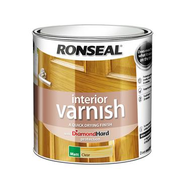Ronseal 2.5 Litre Quick Drying Interior Matt Varnish - Clear Matt | 36878