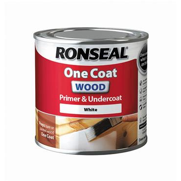 Ronseal 250ml One Coat Wood Primer & Undercoat - White | 36995