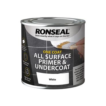Ronseal 250ml One Coat All Surface Primer & Undercoat - White | 36998