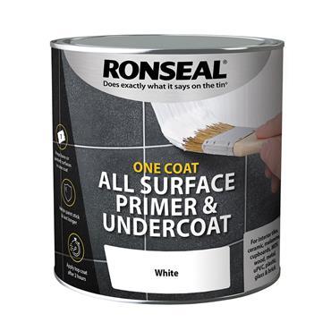 Ronseal One Coat Multi Surface Primer & Undercoat 2.5 Litre - White | 37000