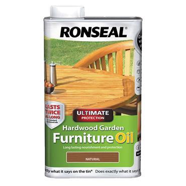 Ronseal 1 Litre Hardwood Garden Furniture Oil - Natural | 37356