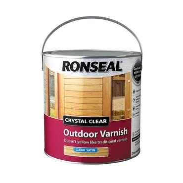 Ronseal 2.5 Litre Crystal Clear Outdoor Varnish - Clear Satin | 37366