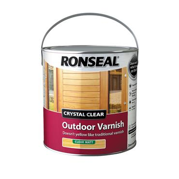 Ronseal 2.5 Litre Crystal Clear Outdoor Varnish - Clear Matt | 37369