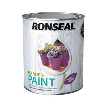 Ronseal 750ml Garden Paint - Purple Berry | 37401