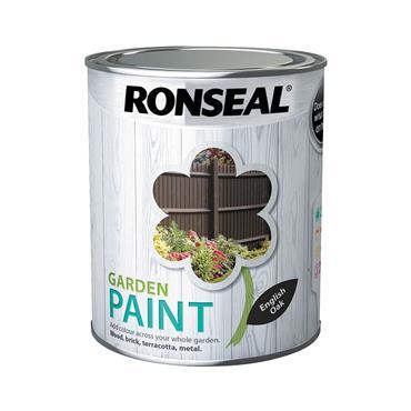 Ronseal 750ml Garden Paint - English Oak | 37405