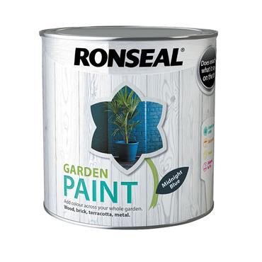 Ronseal 2.5 Litre Garden Paint - Midnight Blue | 37434