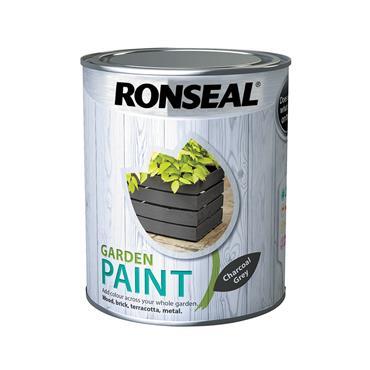 Ronseal 750ml Garden Paint - Charcoal Grey | 38263