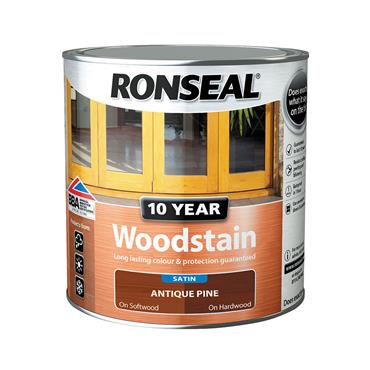 Ronseal 750ml 10 Year Exterior Satin Woodstain - Antique Pine | 38676