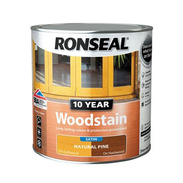 Ronseal 750ml 10 Year Exterior Satin Woodstain - Natural Pine | 38677