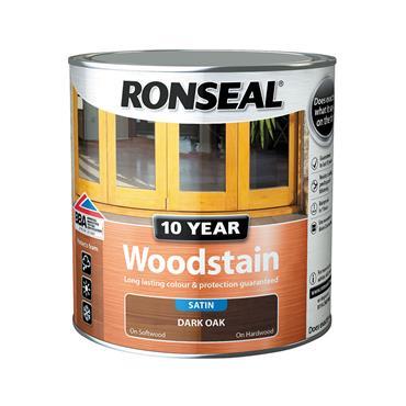 Ronseal 750ml 10 Year Exterior Satin Woodstain - Dark Oak | 38680