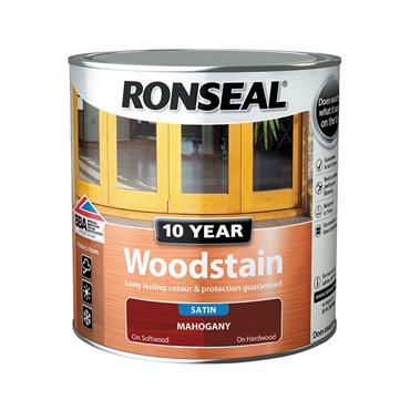 Ronseal 2.5 Litre 10 Year Exterior Satin Woodstain - Mahogany | 38685