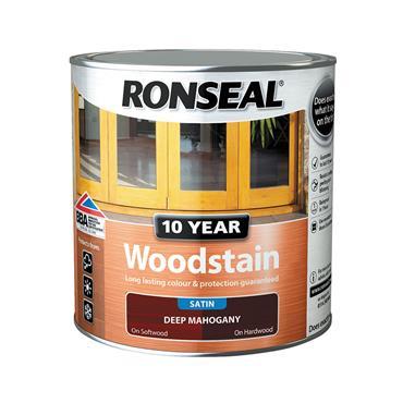 Ronseal 2.5 Litre 10 Year Exterior Satin Woodstain - Deep Mahogany | 38686