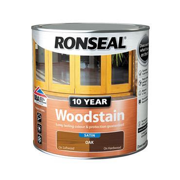 Ronseal 2.5 Litre 10 Year Exterior Satin Woodstain - Oak | 38690