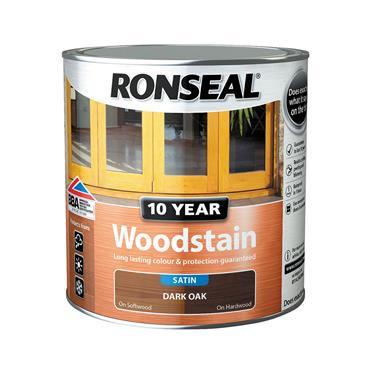 Ronseal 2.5 Litre 10 Year Exterior Satin Woodstain - Dark Oak | 38691