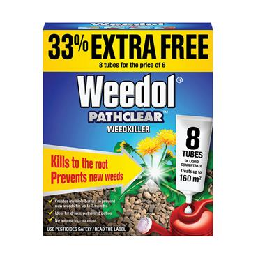 Weedol Pathclear Concentrate Weedkiller 6 Tubes Plus 2 FREE