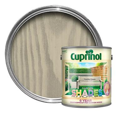 Cuprinol 1 Litre Garden Shades Woodstain - Country Cream | 5092588