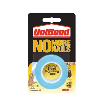 UNIBOND NO MORE NAILS DOUBLE SIDED TAPE 1.5 METRE INTERIOR | 0416-20