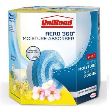 Unibond Aero 360 Moisture Absorber Refill 2 Pack - Flower Meadow