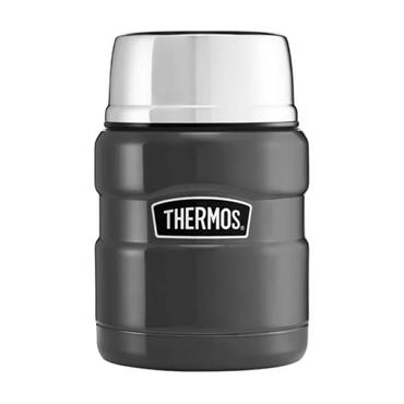 Thermos Stainless King Food Flask with Spoon 470ml - Gun Metal | 190759