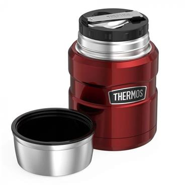 Thermos Stainless King Food Flask with Spoon 470ml - Cranberry Red | 184807