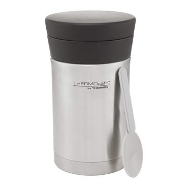 Thermos Thermocafe Food Flask 500ml with Spoon - Stainless Steel | 186816