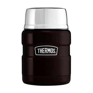 Thermos Stainless King Food Flask with Spoon 470ml - Matt Black | 190759