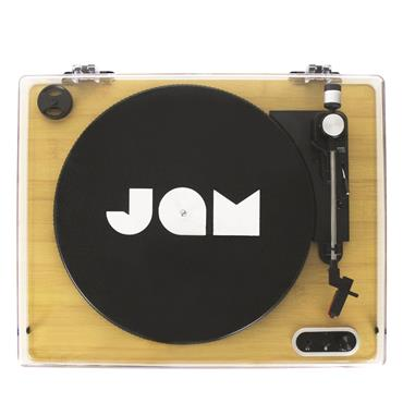 Jam Sound Stream Vinyl Record Player Turntable Wood Effect | HX-TT400WD-G
