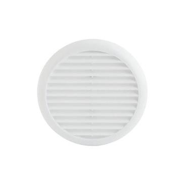 Fixed Round Wall Vent 145mm with Flyscreen - White | 0440-28