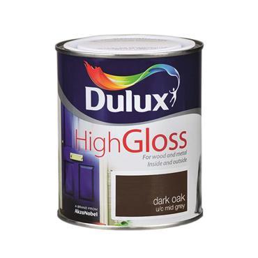 Dulux 750ml High Gloss - Dark Oak   5083972