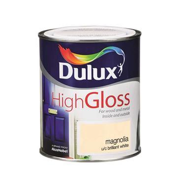 Dulux 750ml High Gloss - Magnolia   5083974