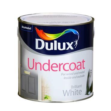 Dulux 2.5 Litre Undercoat - White   5084412