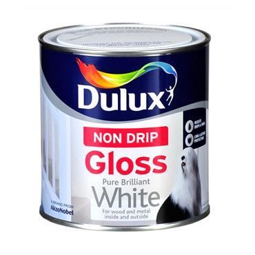 Dulux 1 Litre Non Drip Gloss - Brillant White   5084135