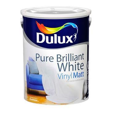 Dulux 1 Litre Vinyl Matt - Brillant White | 5084558